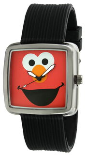 Viva time black rubber strap elmo