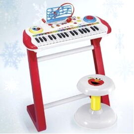Kids station toys 2011 learn to play keyboard with microphone and stool