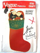Vogue patterns 1983 christmas stocking statler waldorf
