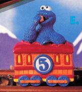 Enesco 1993 train 5 cookie monster