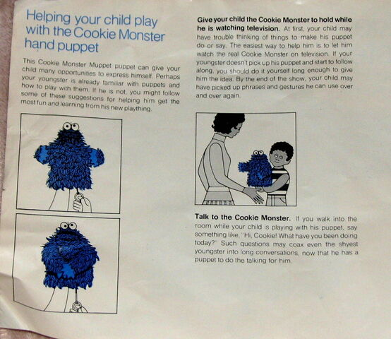 File:Topper educational toys cookie monster hand puppet instruction booklet 2.jpg