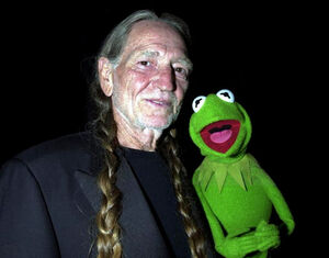 Willie Nelson and Kermit June 14, 2001