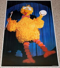 American publishing 1979 sesame street poster big bird