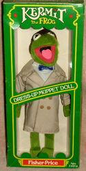 Fisher-price dress-up muppet doll kermit 1