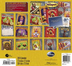2014 Muppets calendar back