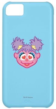 Zazzle abby smiling face with heart shaped eyes