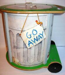 American toy 1982 chest oscar trash can 1