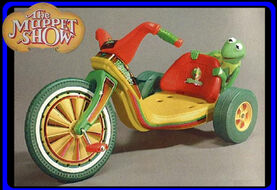 Big wheel kermit