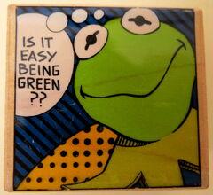 Inkadinkado rubber stamp kermit easy being green