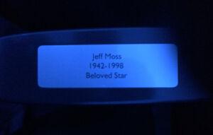 Jeff Moss plaque Hayden Planetarium