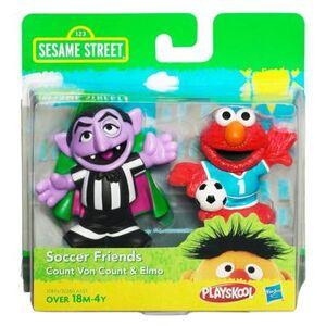 HasbroPlayskool-SesameStreet-2Pack-SoccerFriends-CountVonCount&Elmo