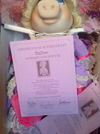 Marie Antoinette doll - Certificate of Authenticity
