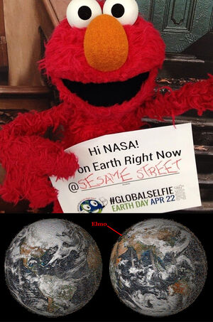 Elmo NASA Global Selfie April 22, 2014