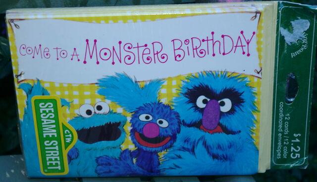 File:Drawing board 1977 monster birthday invitations cards.jpg