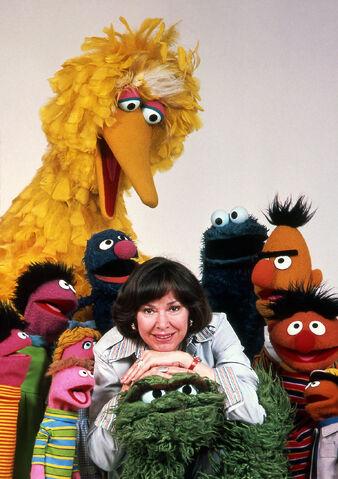 File:Joan Ganz Cooney and Muppets 70s.jpg