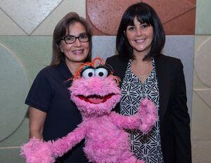 Sandra Cauffman, Diana Trujillo, and Lola Plaza Sesamo