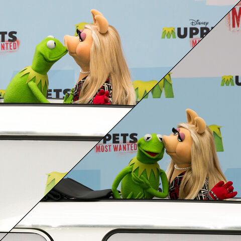 File:Kiss Kermit Piggy Muppets Most Wanted photo call in Berlin.jpg