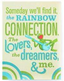 Plaque kermit rainbow