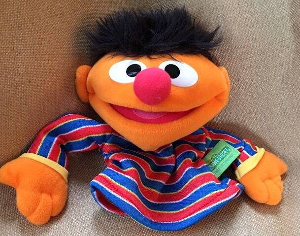 File:Fisher-price 2004 collectible hand puppet ernie.jpg