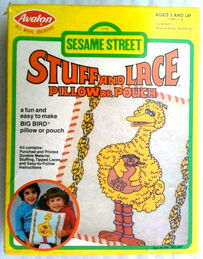 Avalon 1981 sesame stuff and lace pillow or pouch crafts kit 1