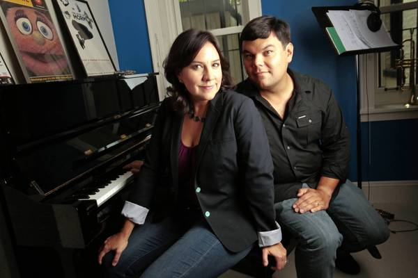 File:Kristen Anderson and Bobby Lopez.jpg