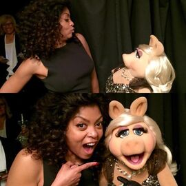Taraji P. Henson and Miss Piggy