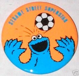 Sesame street superstar button cookie monster