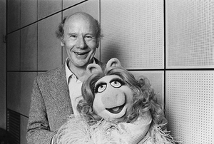 Roy Plomley and Miss Piggy