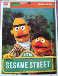 Sesame-Street-Ernie-and-Bert-Muppets-1977-Whitman