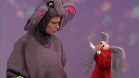 Sesame Street Natalie Portman And Elmo Are Princess & Elephant