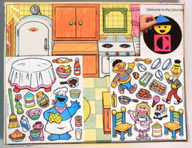 Colorforms 1987 cookie monster kitchen 2