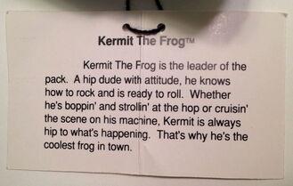 Presents 1991 kermit leather jacket muppet high plush 5