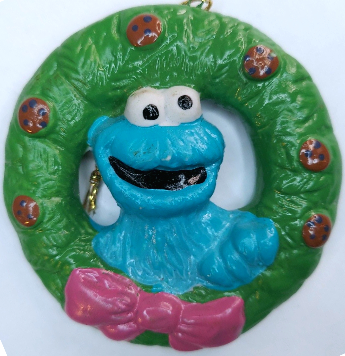 File:Cookie monster newcor 1988 christmas ornament wreath set 1.jpg