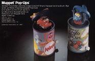 Tomy 1983 catalog muppet pop-ups wind up toys animal gonzo