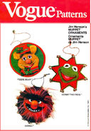 Vogue 1982 muppet ornament pattern