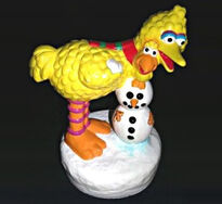 Big bird snowman music box