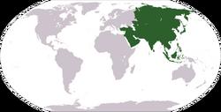 Localización d'Asia.