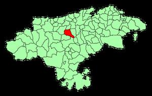Los Corrales de Buelna (Cantabria) Mapa
