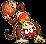 Diddy Kong Artwork - Mario Hoops 3-on-3