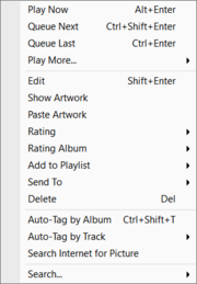 Album-Tracks Menu
