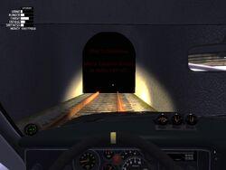 Train tunnel end