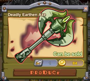 Deadly Earthen Axe