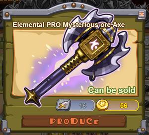 Elemental PRO Mysterious Ore Axe
