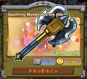 Sparkling Mysterious Ore Axe
