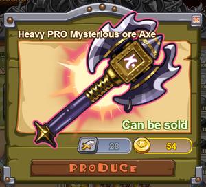 Heavy PRO Mysterious Ore Axe