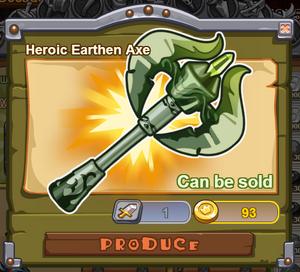 Heroic Earthen Axe