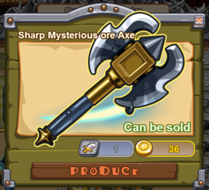 Sharp Mysterious Ore Axe