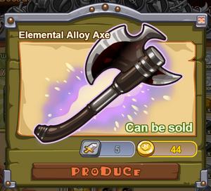 Elemental Alloy Axe