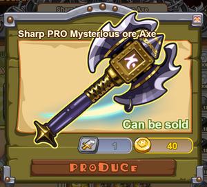 Sharp PRO Mysterious Ore Axe