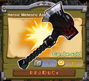 Heroic Meteoric Axe